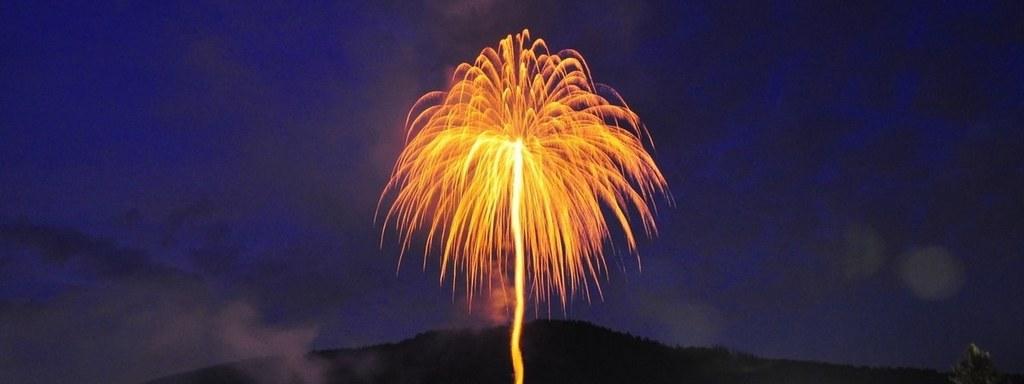 Feuerwerkspalme Rursee Flammen