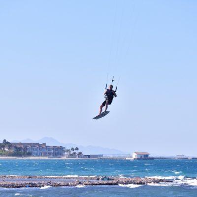 Kiting am Roten Meer
