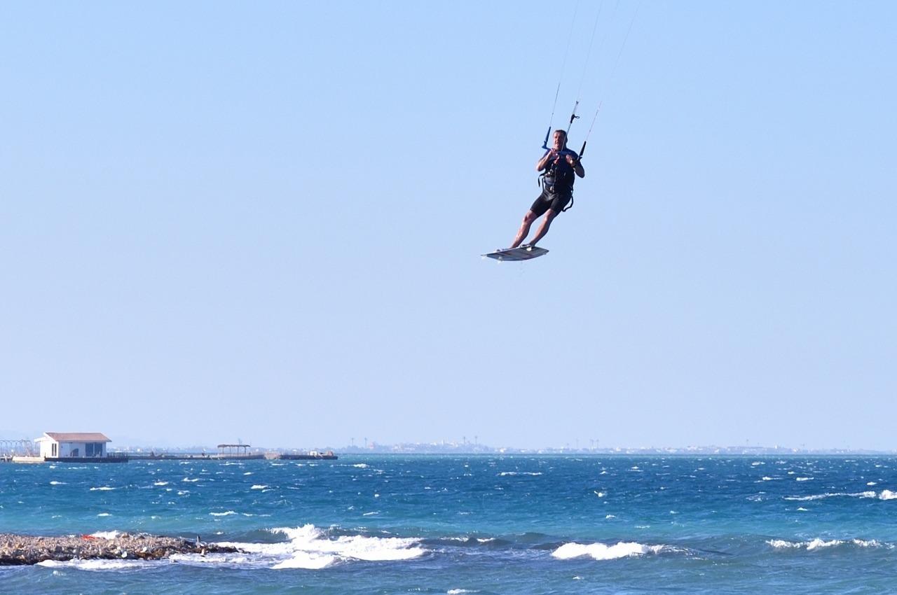 Kiter in der Luft
