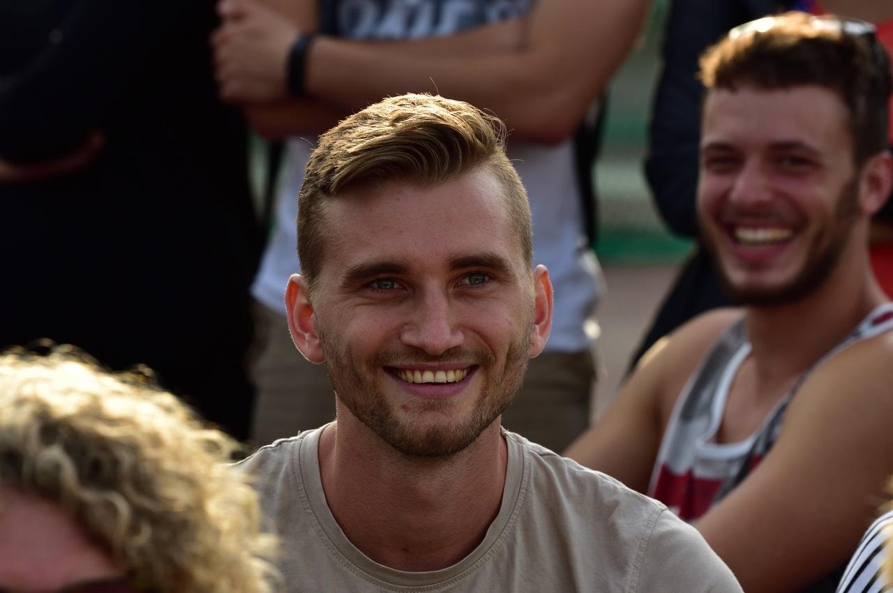 Mateusz Przybylko als Zuschauer