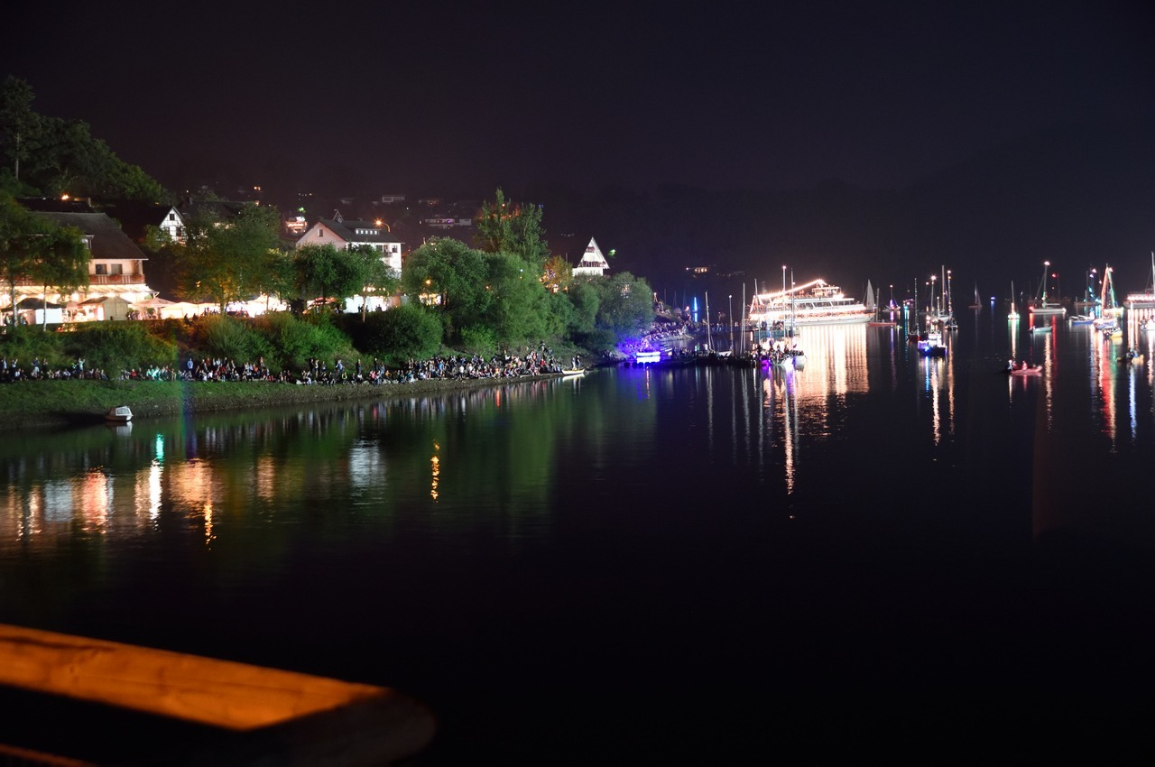 Rurberg Seeufer bei Nacht