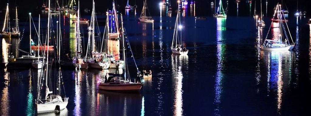 Segelboote Rursee Flammen