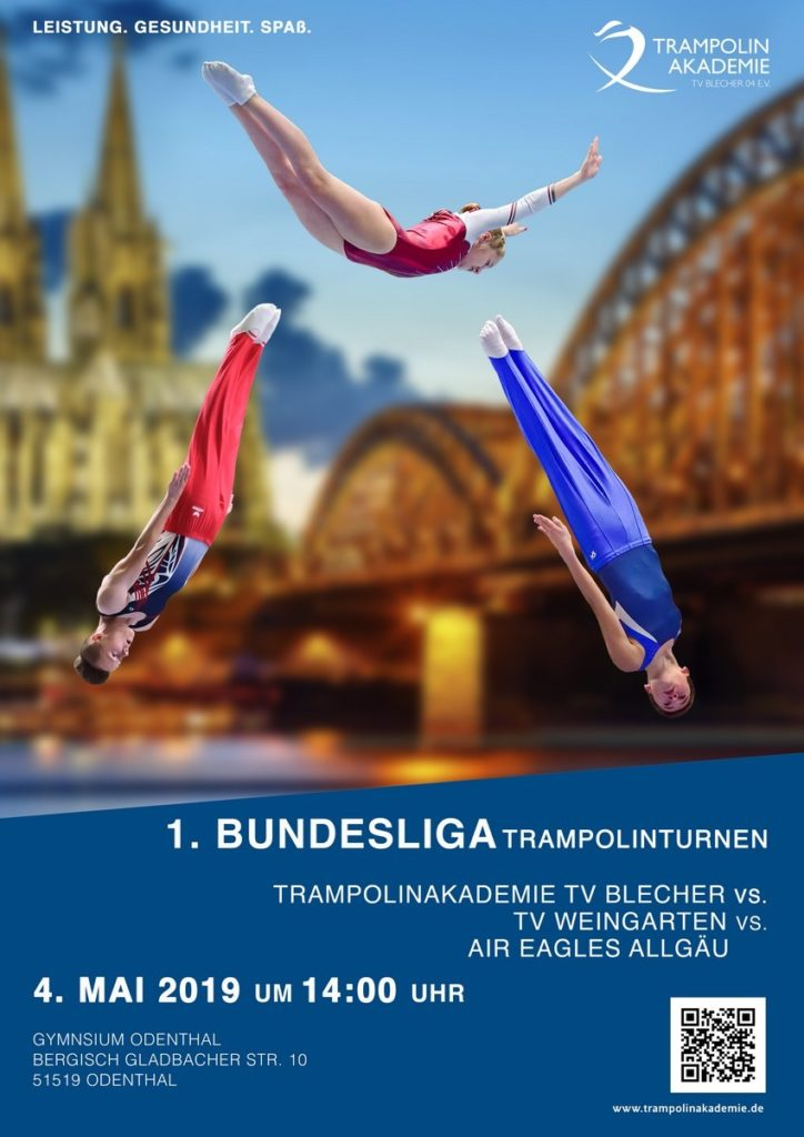 Trampolin Bundesliga 2019 Poster TV Blecher